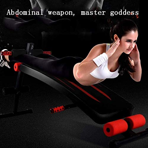KWEE Adjustable Weight Bench Multi-Workout Hyper Back Extension Abdominal Sit Up Bench Workout Bench with Flat/Decline/Sit Up for Commercial and Home Use