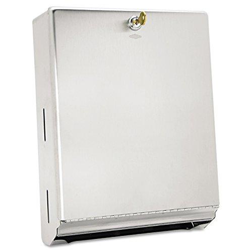 Bobrick Washroom Equipment B-262 Bobrick 262 Surface-Mounted Paper Towel Dispenser, 10 3/4 x 4 x 14, Satin Stainless Steel