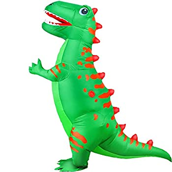 KOOY Inflatable Costume Adult Dinosaur T-REX Costumes Fancy Costume Halloween Party Cosplay Fantasy Blow up Costumes Adult