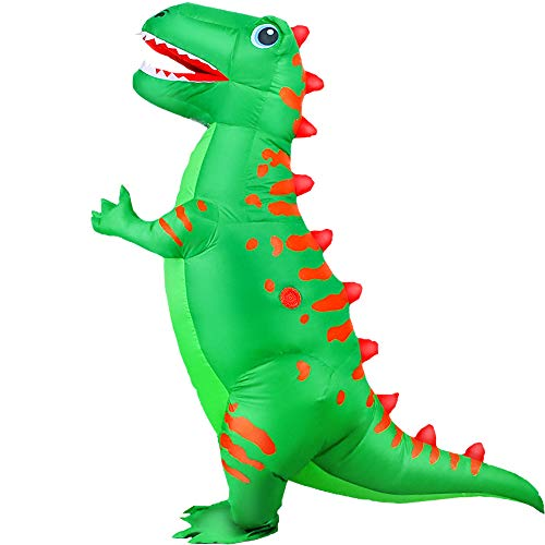KOOY Inflatable Costume Adult Dinosaur T-REX Costumes Fancy Costume Halloween Party Cosplay Fantasy Blow up Costume Adult