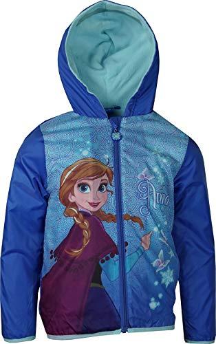 Disney Mädchen Frozen Leichte Kapuzenjacke mit Beutel Blau-4 Years / 104 cm
