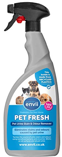 Envii Pet Fresh – Mascota Orina Olor Y Quita Manchas, Obras On Todos Superficies - Seguro para Mascotas (750ml)