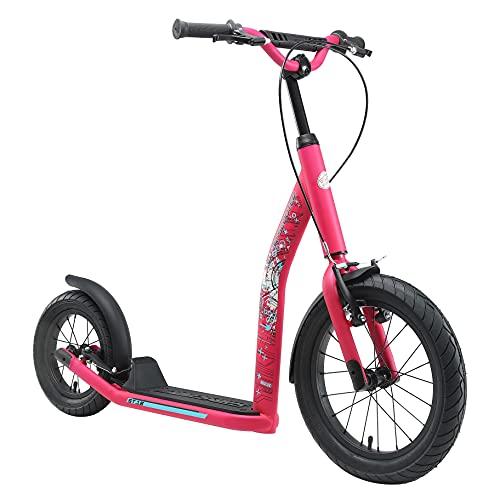 STAR SCOOTER Patinete Infantil 2 Ruedas a Partir de 8 años | Kick Scooter 16' neumáticos, Ajustable en Altura para niñas y niños | Rosa