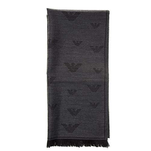 Emporio Armani sciarpa lana uomo anthracite grey
