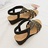 FKKLGNBDR Sandali Sandali semplici Sandali Summer Summer Casual Slidal Sandals Sandals Moda Strass Donne Donne .Sandali Moda da Donna (Color : Schwarz, Size : 41)