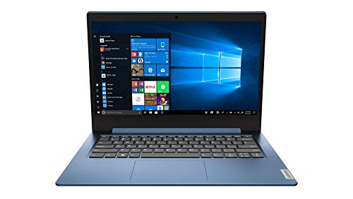 Lenovo IdeaPad Slim 1 Notebook, Display 14' HD, Processore AMD A9-9420e, 128 GB SSD, RAM 4 GB, Windows 10, Ice Blue