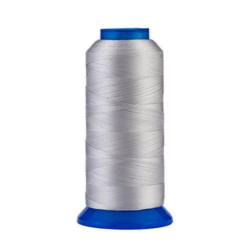 Selric [1500Yards / 30 Colors Available] UV Resistant High Strength Polyester Thread #69 T70 Size 210D/3 for Upholstery, Outdoor Market, Drapery, Beading, Purses, Leather (Silver)