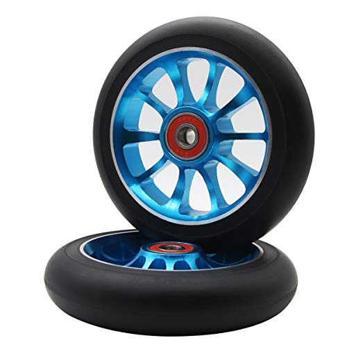 Z-FIRST 2PCS Replacement 110mm Pro Scooter Wheel with ABEC 9