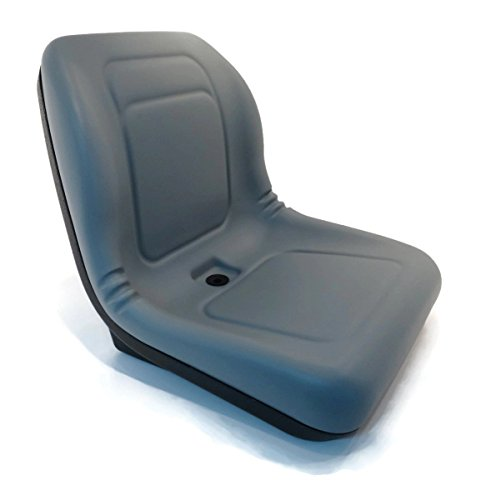 A&I Products New Grey HIGH Back SEAT for Hustler ZTR Zero Turn Lawn Mower Garden Tractor by The ROP Shop