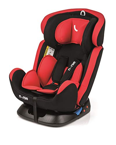 Nurse Driver 2 Seggiolino auto gruppo 0 1 2 3, da Neonato a 36 kg., Installazione con Cintura Auto, Reclinazione Massima, Include Riduttore, Colore Red