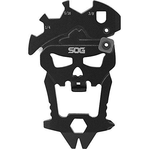 SOG MacV Tool SM1001 - Hardcased Black, 12 Tools in One: Bottle Opener, Screwdrivers