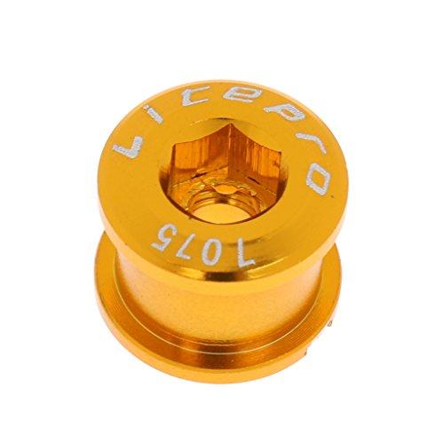 MagiDeal 1 STK. Kurbel-Schraube Kettenblatt Schrauben 1-Fach Kurbelsatz Aluminium Mutter - Gold