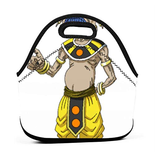 Lunch Bag Tragbare Tasche Bento Pouch Götter der Zerstörung Araku Arack Dragon-Ball Lunchbox Bag Multifunktionales Reißverschlusspaket für die Arbeit in der Schule Bürohandtasche