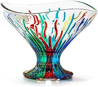 Murano Glass Fire Bowl, Compote