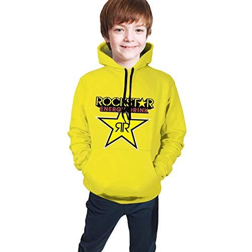 Rock-Star E-Nergy D-Rink Fashion Kids Neuheit Hoodies für Jungen/Mädchen 3D Hooded Pullover Sweatshirt M(10-12)