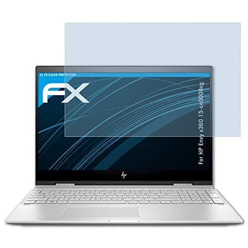 atFolix Schutzfolie kompatibel mit HP Envy x360 15-cn0008ng Folie, ultraklare FX Displayschutzfolie (2X)