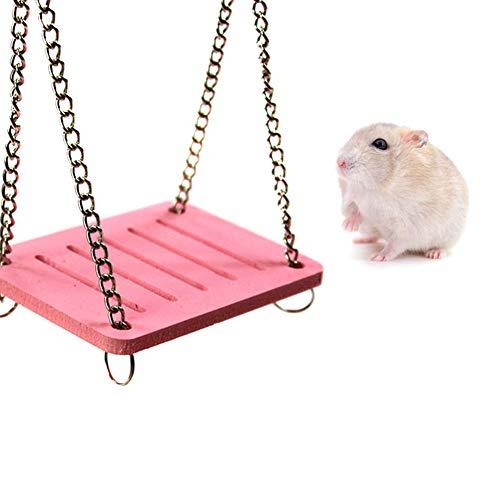 xiamenchangketongmaoyi Hamster Spielzeug Hamster Spielzeug für den käfig Guinea Pig Spielzeug langeweile Breaker Hamster Klettern Spielzeug Kaninchen Spielzeug pink