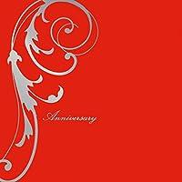 写真 アルバム 2面 2L2枚 はね柄 赤「Anniversary」 シルバー箔 写真台紙 2面アルバム 七五三 753 結婚式 成人式 ベビー 2Lサイズ写真が2枚入る2面台紙 (赤)