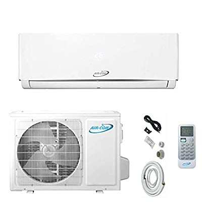 18000 BTU Mini Split Air Conditioner – Ductless AC/Heating System - 1.5 Ton Pre-Charged Inverter Heat Pump – 18 SEER - 12' Lineset & Wiring - 100% Ready to Install - USA Parts & Support
