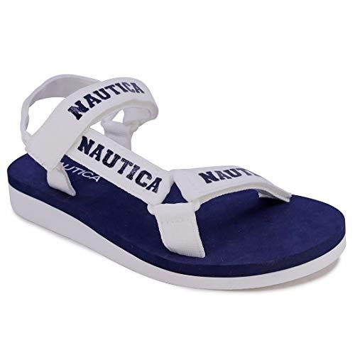 Nautica Women's Athletic Sandal Strap Around Sandal - Flip-Flop Like Boat Slide-Chani-Navy White-6