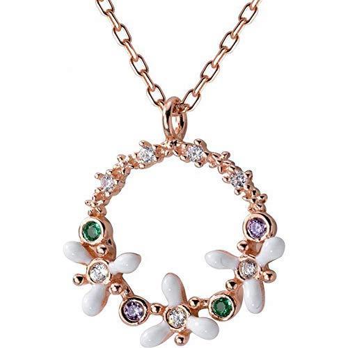 Thumby S925 zilveren slinger ketting vrouwelijke holle diamant bloem zoete korte sleutelbeen ketting, goud & roos, zoals getoond