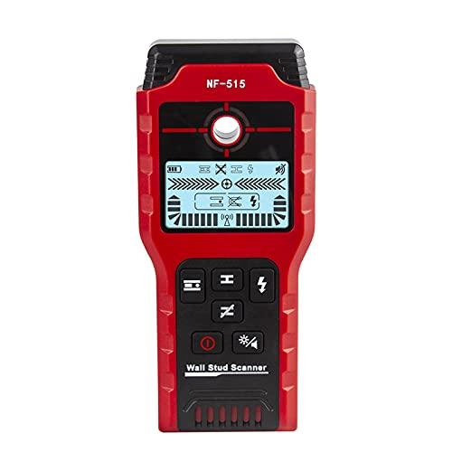 Escáner detector de pared: probadores de cables de red con bolsa de almacenamiento para detectar madera metálica y cables de CA en la pared NF-515