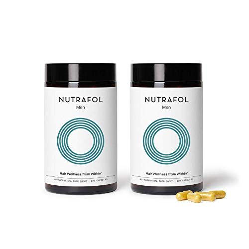 Nutrafol Mens Hair Growth Supplement for Thicker, Stronger Hair (4 Capsules Per Day - 2 Bottles - 2 Month Supply)