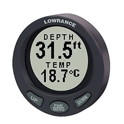 Lowrance LST-3800 2-Inch in-Dash Depth Gauge with 200KHz Transom Mount Transducer