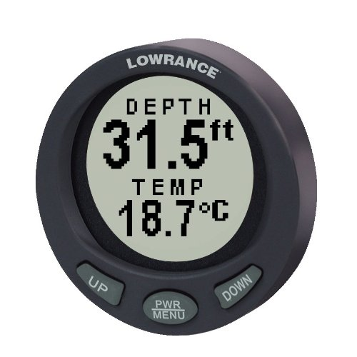 Lowrance Depth Finder >> Lowrance Lst 3800 2 1 8 Inch In Dash Depth And Temperature Gauge With 200khz Transom Mount Transducer