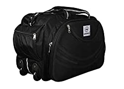 INTE ENTERPRISES BREGGABOG Waterproof Polyester Lightweight 60 L Luggage Black Travel Duffel Bag with 2 Wheels,INTE TRADERS,IT01