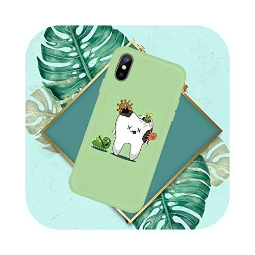 Divertido Dentista Dental, Dientes Coronados, Caramelo Color Caramelo para iPhone 11 12 Mini Pro XS MAX 8 7 6 6S Plus X SE 2020 XR-a5-iphone7or8
