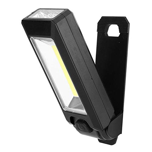 SALUTUYA Luz de Trabajo magnética Lámpara Colgante de Alto Brillo Impermeable Luz de Trabajo LED Lámpara de Trabajo portátil portátil Impermeable para Caza, Transporte Diario, Patrulla,((Black))