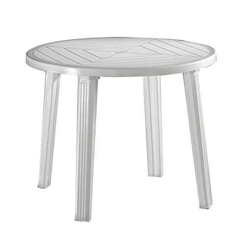 ガーデンテーブル クリストバル ラウンドテーブル( プラスチック 軽量 屋外 バルコニー ガーデン テーブル イタリア製)