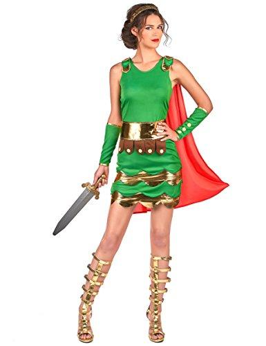 Vegaoo - Römerinnen Kostüm für Damen grün