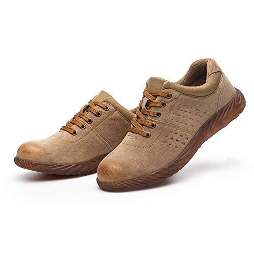 Juntful Arbeidsverzekering Schoenen voor heren Ademende Beschermende Schoenen slijtvast Anti-Smashing Anti-Piercing Werk Beschermende Schoenen