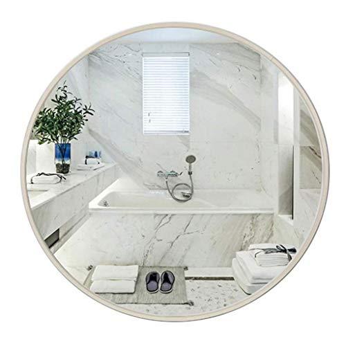 Make-up spiegel make-up spiegel ronde aan de muur bevestigde badkamerspiegel metalen frame make-up decoratief scheermes slaapkamer hal 80 cm D