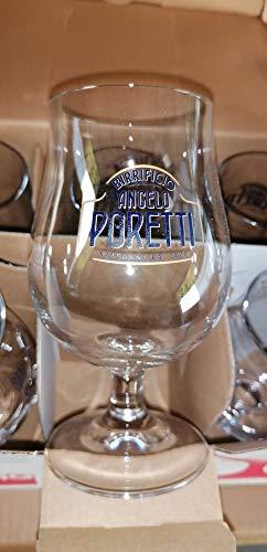Set di 6 bicchieri da 25 cl con birre Poretti, colore: Magnifico