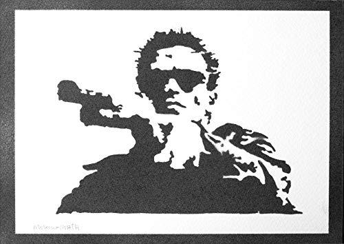 Póster Terminator Grafiti Hecho A Mano - Handmade Street Art - Artwork