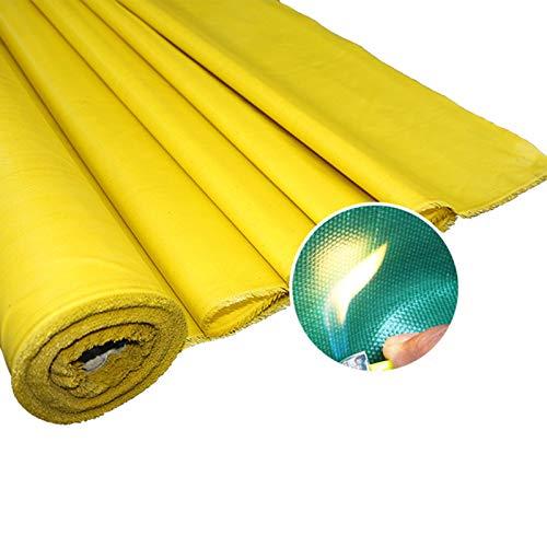 GDMING Lonas, Impermeable Tarea Pesada Cloruro De Polivinilo Fibra De Vidrio Paño Ignífugo Cubierta De Almacén Carpa para Camping, 36 Tamaños (Color : Yellow, Size : 2x15m)