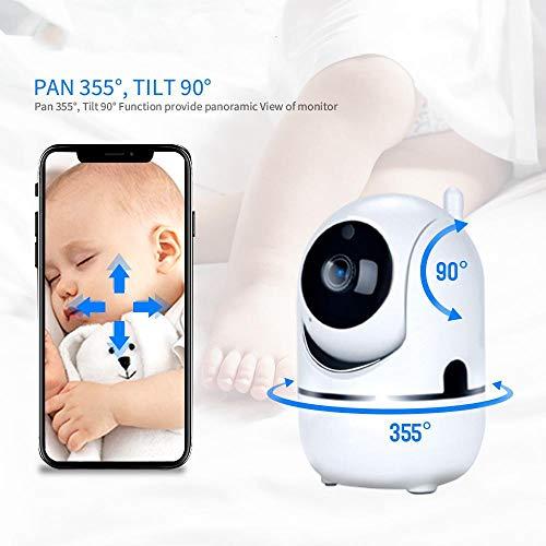 vigilabebe Monitor y cámara para bebés cámara para teléfono móvil para bebés detección de movimiento alarma de llanto audio bidireccional video para el hogar cámara para bebés
