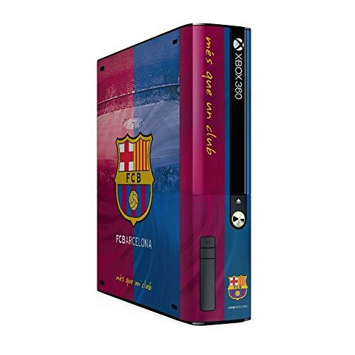 FCB FC Barcelona - -Pegatina oficial para consola xbox 360 E GO (Talla Única) (Azul Burdeos)
