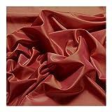 Stoff Polyester Kleidertaft terracotta Taft dezenter Glanz
