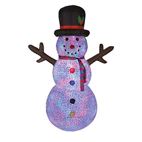 Snowman - Muñeco de Nieve 2,5 Metros Navidad Luminoso Auto-Hinchable Gigante para Exterior