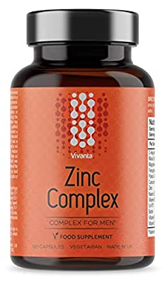 Zinc Complex for Men - 30mg Zinc (300% NRV) - High Strength Zinc Blend - for The Immune System and Wellbeing - 120 Vegetarian Capsules