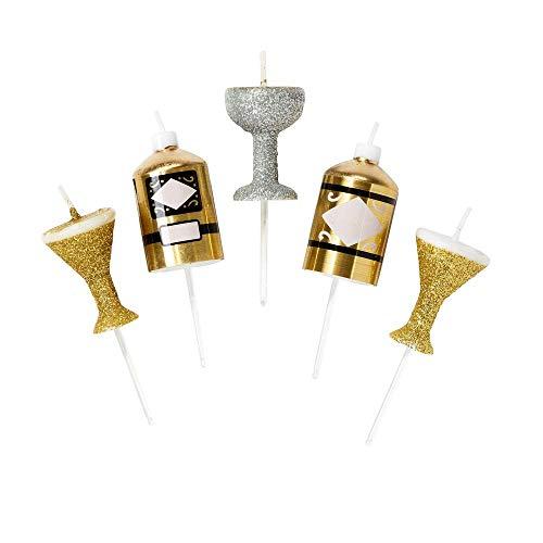 Talking Tables decoraciones de fiesta de navidad temporada festiva Velas (LUXE-CANDLE-DRINKS), color