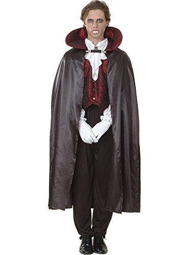Ciao-Vampiro costume adulto (Taglia Uomo, Nero, rosso, 16175.L