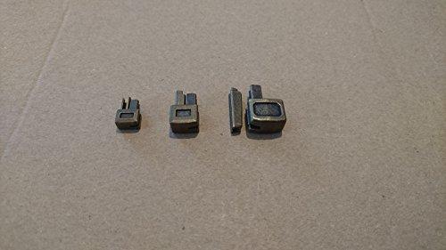 Unbekannt Set de reparación de Cremalleras desconocidas, Talla 6, 8,10 Ranuras y Parte de Caja, Color Antiguo.