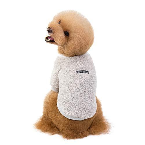 PETVE 19 år höst och vinter nya hundkläder husdjurskläder superelastisk fleece lag strid nalle hundkläder, grå, S