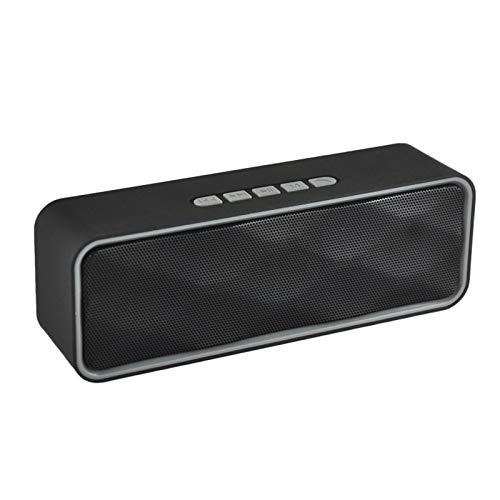 JUNPE Altavoz Bluetooth al Aire Libre inalámbrico Teléfono móvil Coche Smart Mini Stereo 3W HD Sonido y BRESC Bass 6H Tiempo de reproducción (Color : Gray)