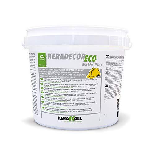 Kerakoll pittura semilavabile traspirante KERADECOR ECO WHITE PLUS 4 lt